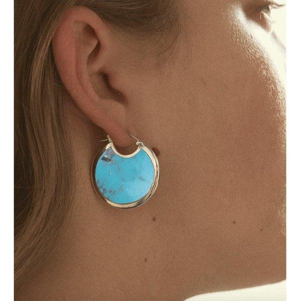 Pamela Love Turquoise Mojave Hoops