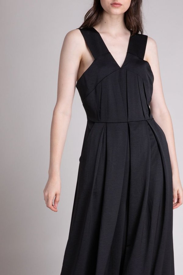 Grade & Gather Pleated Top Jumpsuit