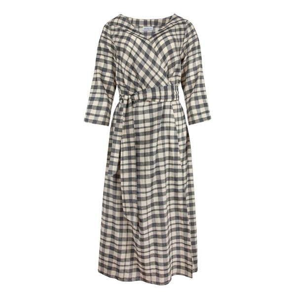 Wray Wrap Dress - Grey Check