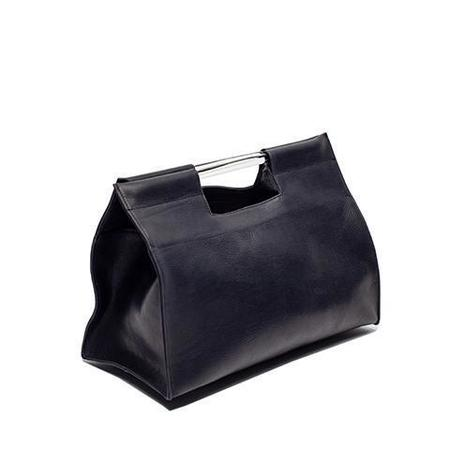 Erin Templeton Record Tote Bag - Black Leather