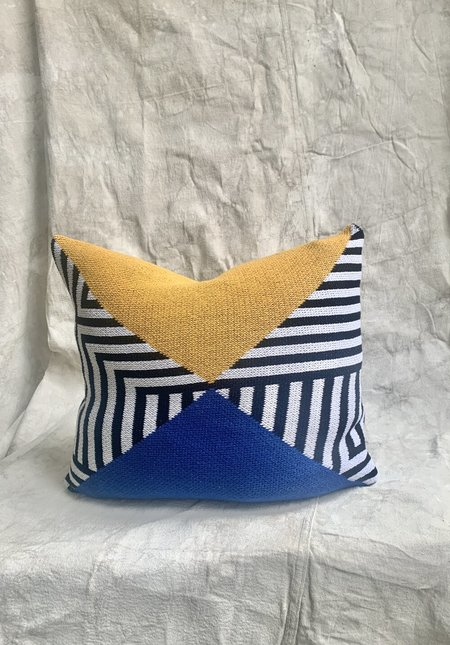 Ditto House Interchange Pillow - Blue/Yellow
