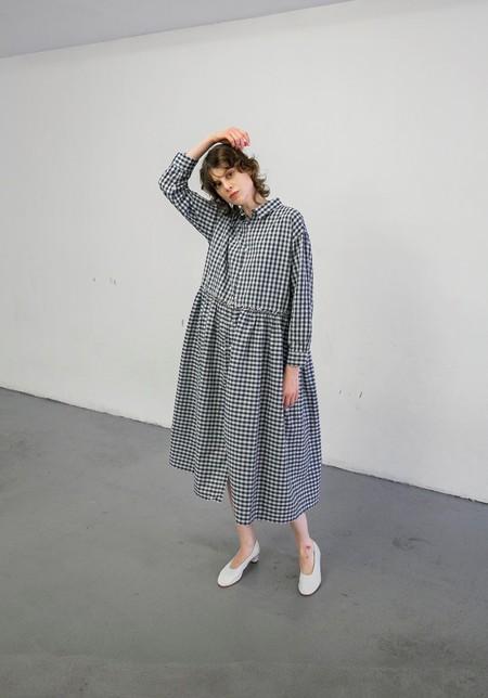 ICHI ANTIQUITES 500610 DRESS - NAVY INDIGO