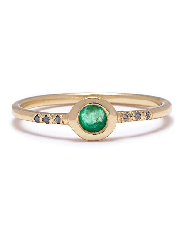 Scosha MIDNIGHT RING - Emerald