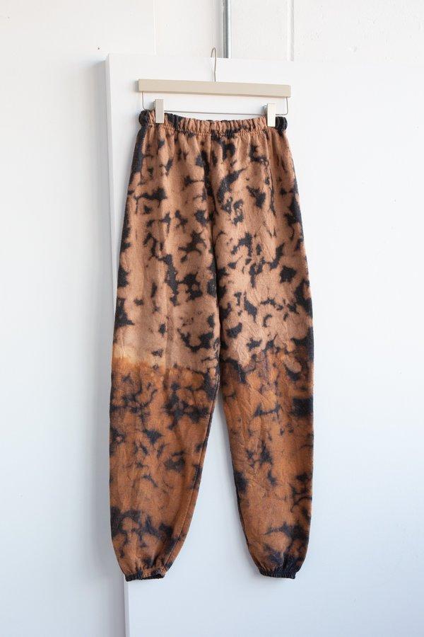 WOLF & GYPSY VINTAGE Tie Dye Joggers - Tan/Black