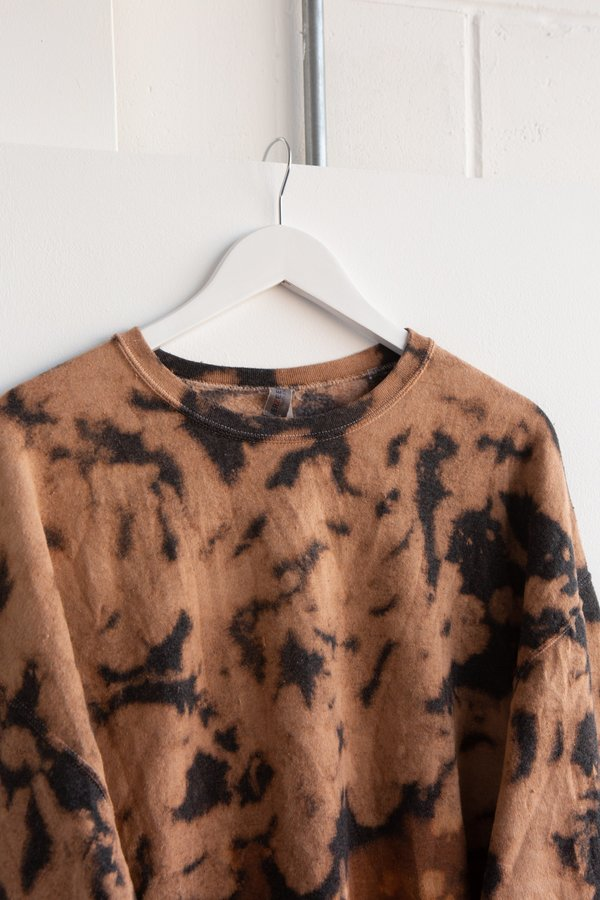 WOLF & GYPSY VINTAGE Tie Dye Sweatshirt - Tan/Black