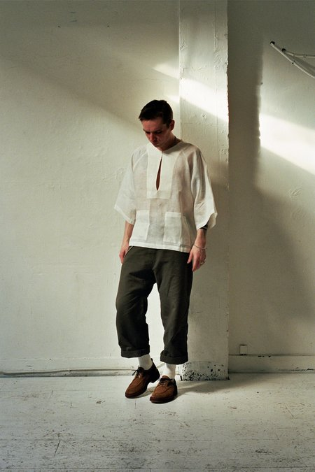 Nicholas Daley Front Slit Shirt - White