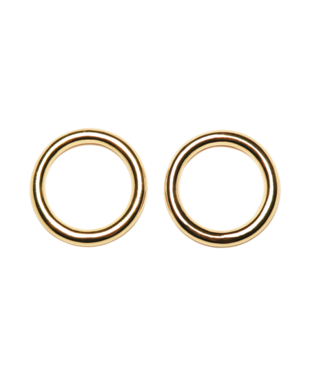 Common Muse Lia Circle Earrings - Gold