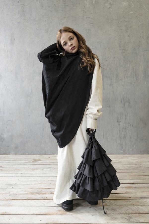 K M BY LANGE JULE´s RUFFLE BAG - BLACK