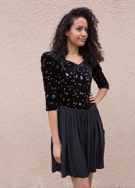 Samantha Pleet Venus Body Suit - Black Velvet