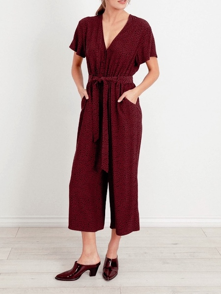 Rails Jet Jumpsuit - Rust Spotted