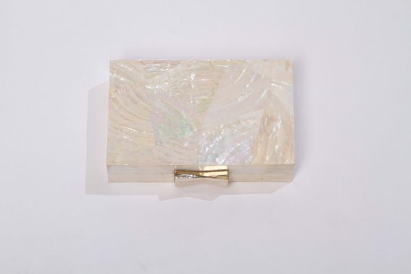 Alajas Abstract geometry clutch - abalone