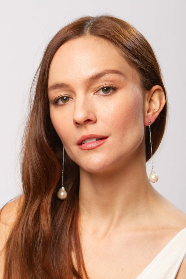Alajas Tali pearl earrings - white