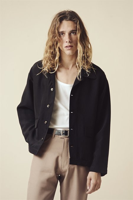 SECOND/LAYER Calo Shirt Jacket - Black