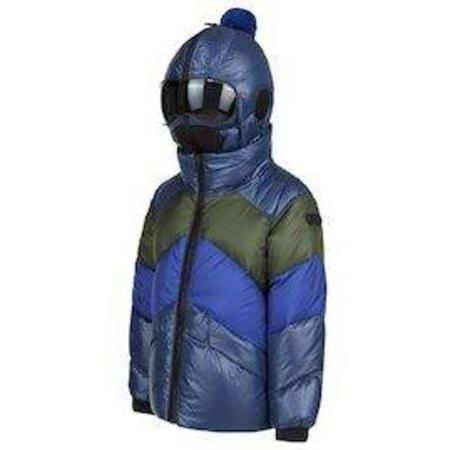kids AI Riders On The Storm down puffy jacket - navy/sea blue