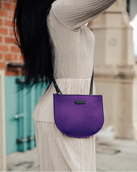 Graf Lantz Seiken Felt Crossbody - purple
