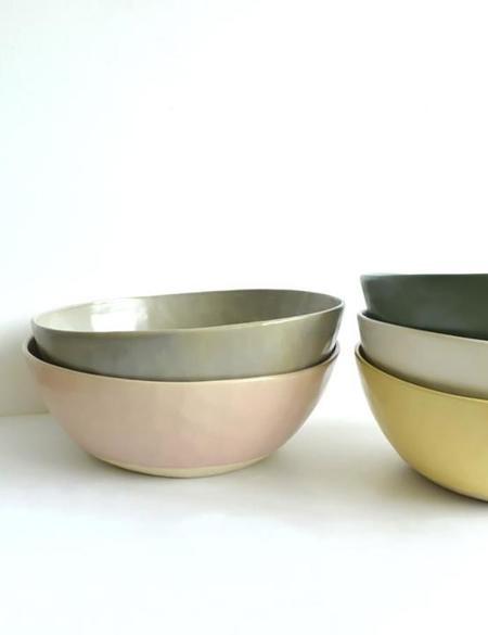 Dassie Artisan Organic Serving Bowl - Cashmere White