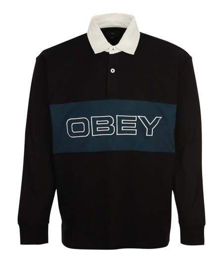 Obey Ignite Classic Polo LS - Black