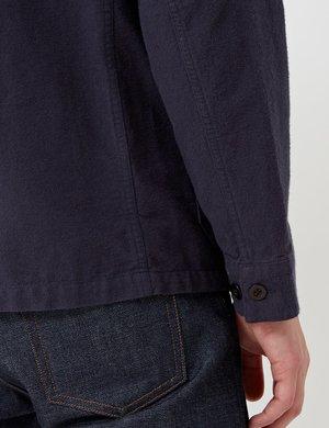 Portuguese Flannel Pinheiro Jacket - Navy Blue