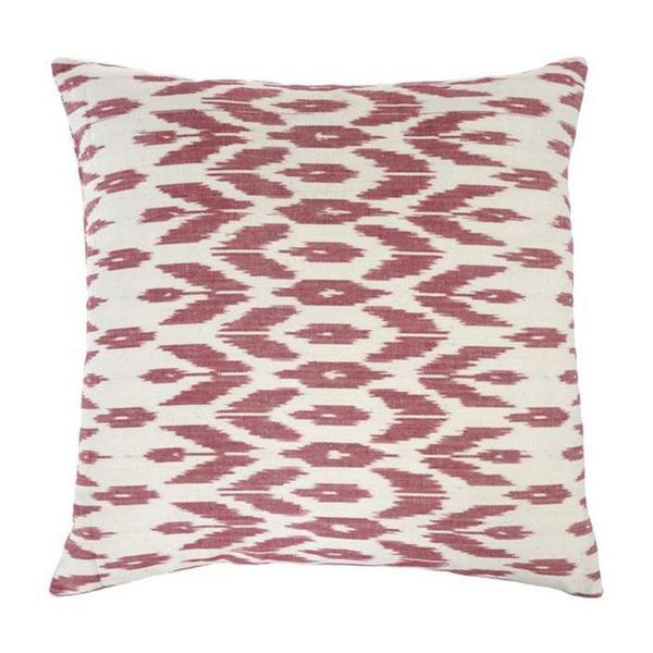Indaba Ikat Pillow - Rose