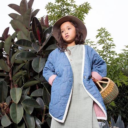 kids Nico Nico Nima Quilted Jacket - Denim Blue