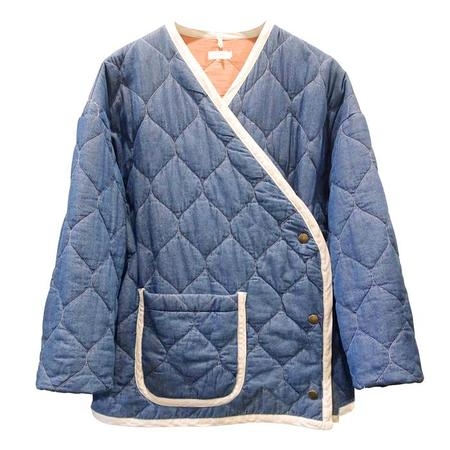 Nico Nico Nima Hip-Length Quilted Jacket - Denim Blue