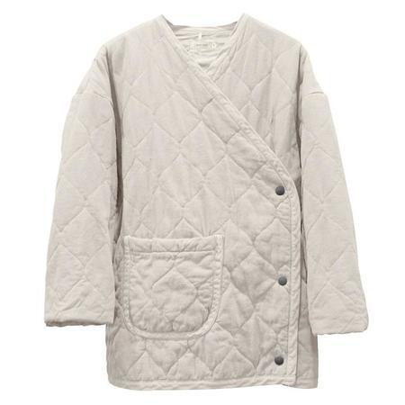 Nico Nico Nima Hip-Length Quilted Jacket - Snow White