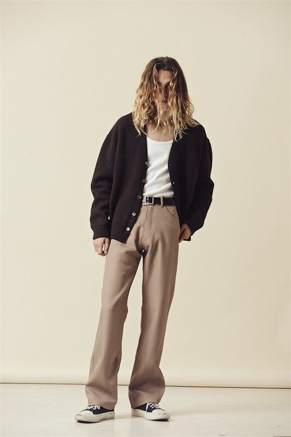 SECOND/LAYER Boot Cut Pant - Khaki