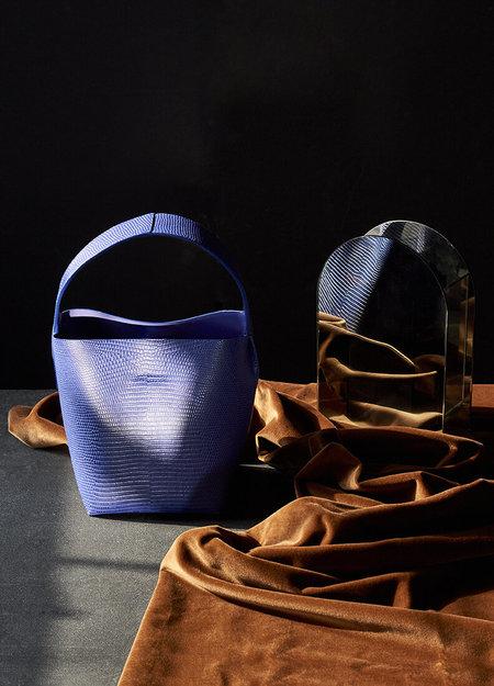 IMAGO-A Nº49 Cross Handle Bucket - Royal Bleu Lizard