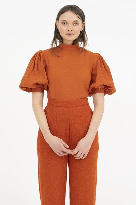 Hannah Kristina Metz Georgiana Blouse - Orange