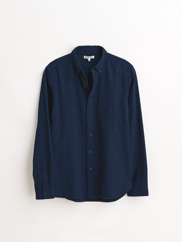 Alex Mill Solid Brushed Twill Button down - Navy