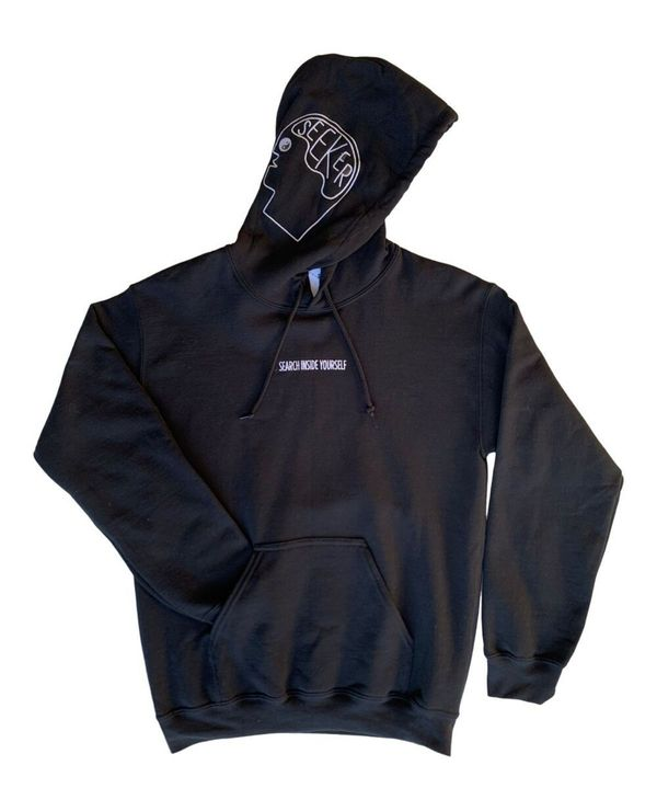 SEEKER POP UP Search Inside Hoodie - Black