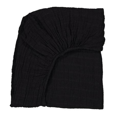 Moumout Paris Autumn King Bed Fitted Sheet - Ink Black