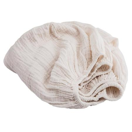 Moumout Paris Autumn King Bed Fitted Sheet - Milk White
