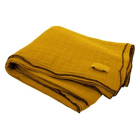Moumout Paris Autumn Nappe Large Tablecloth - Mustard Yellow