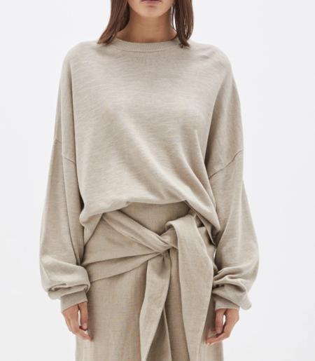 Bassike Cotton Linen Oversized Knit - Tan