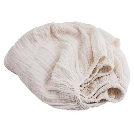 Moumout Paris Autumn Queen Bed Fitted Sheet - Milk White