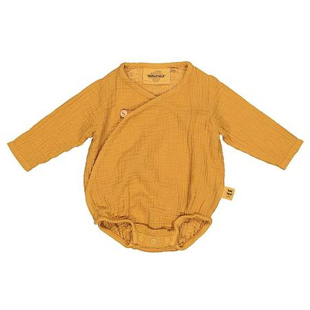 Kids Moumout Paris Flora Muslin Bodysuit - Mustard Yellow