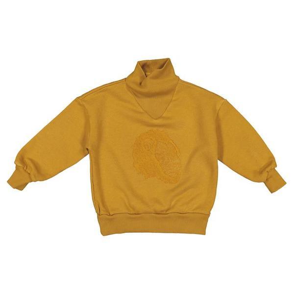 kids Moumout Paris Regis Sweatshirt - Mustard Yellow/Lion King Embroidery