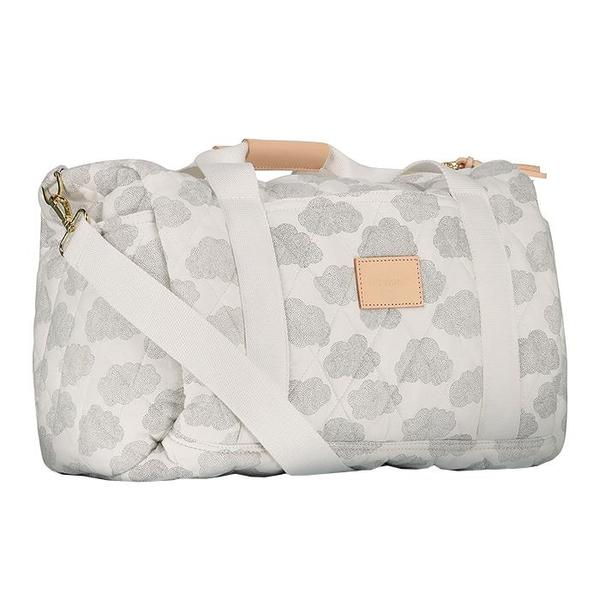 kids Moumout Paris Easy Diaper Bag - White/Cloud Print