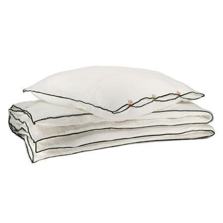 Moumout Paris Hope Bed Linen Set Double Size - Milk White