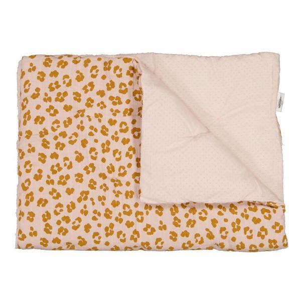 Kids Moumout Paris Malo Travel Comforter Quilt - Nu Pink/Savannah Print