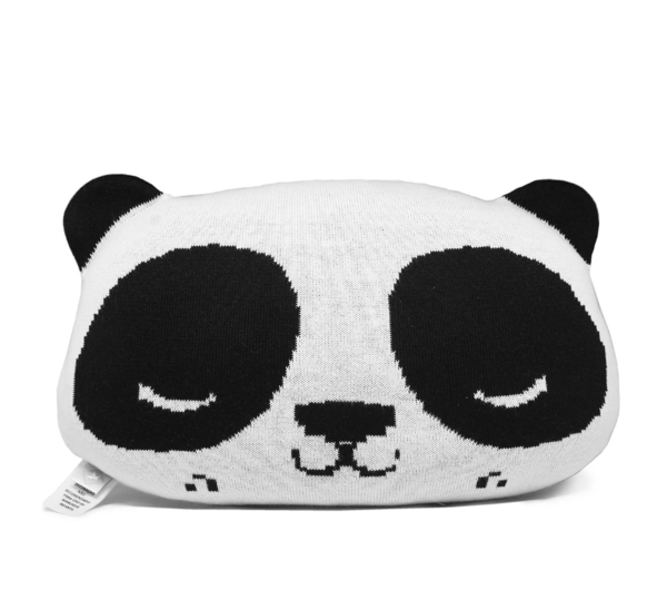 Kids Rian Tricot Panda Cushion