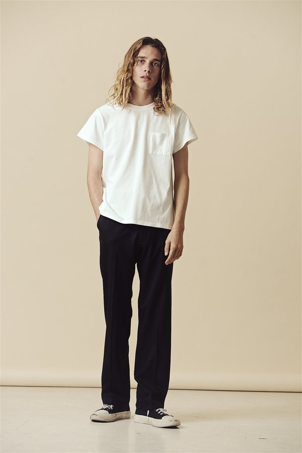 SECOND/LAYER Padovane Pocket T-Shirt - Milk