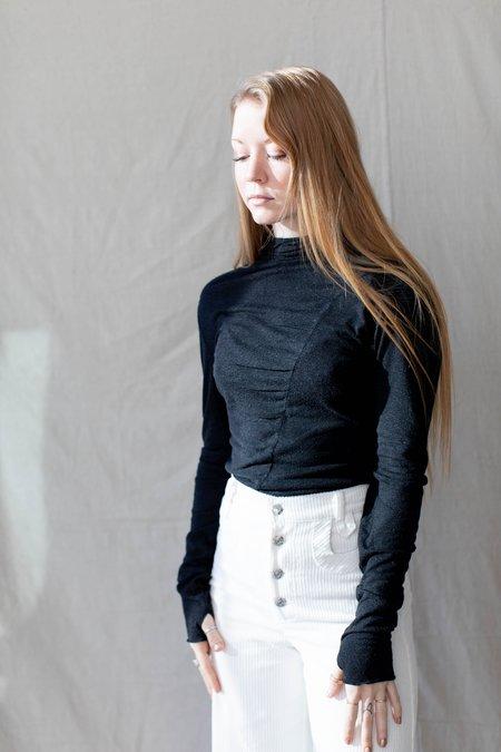 Cossac Texture Top - black