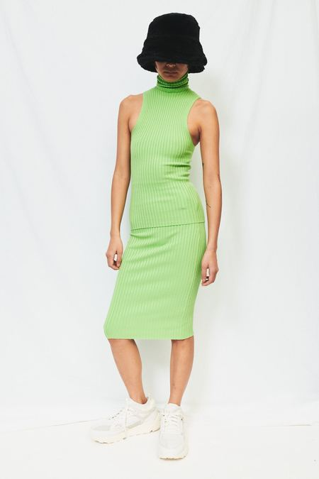 giu giu Nonna Tube Skirt - celery green