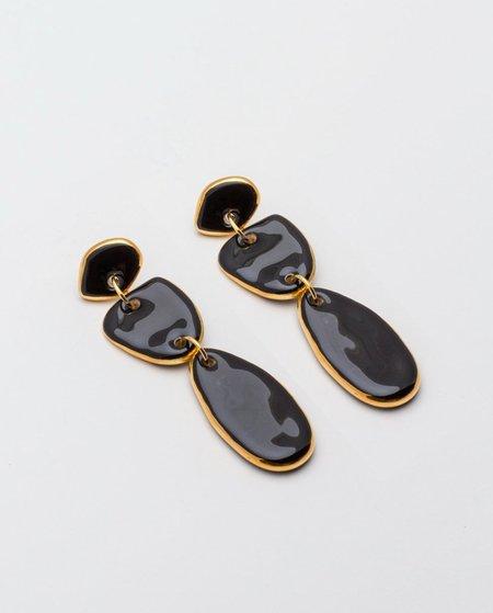 Pedrusco Lagrimas Earrings - Black