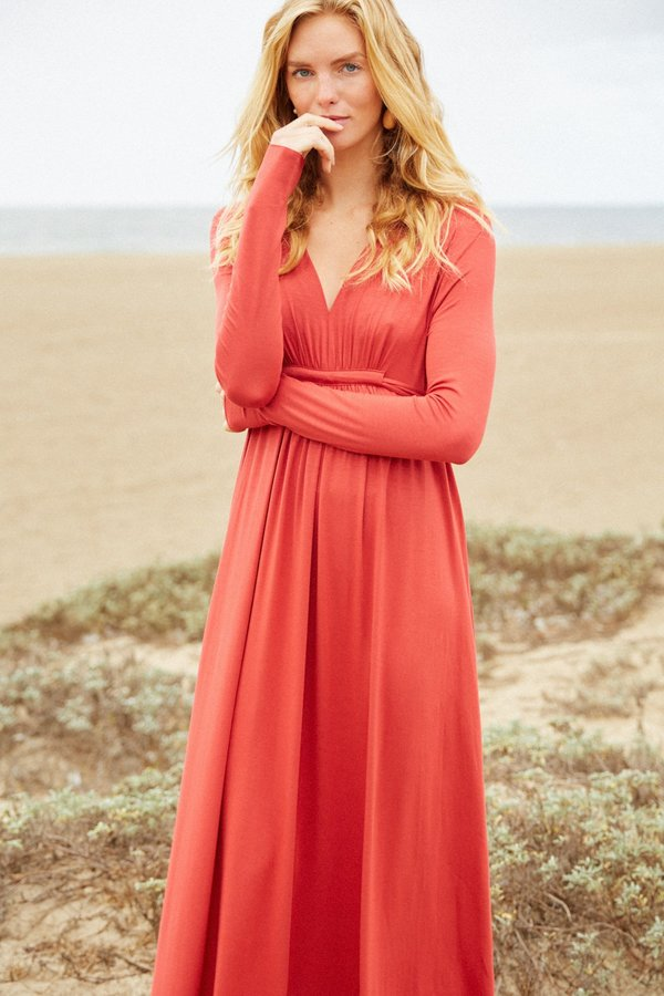 Rachel Pally Long Sleeve Full Length Caftan Dress - Mineral