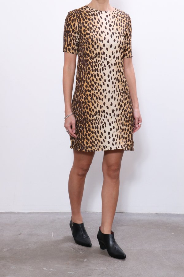 R13 Shift Dress - Cheetah Print