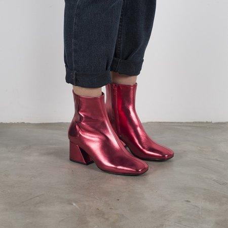 Unreal Fields GALAXY Mid Heel Boots - Red Metallic