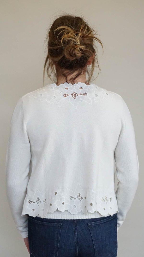 Rachel Comey Solei Cardigan - Oyster Eyelet Knit